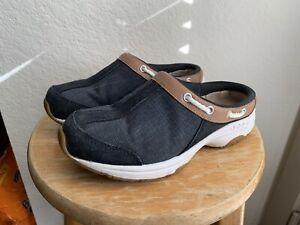GUC Easy Spirit Women's Travelport Mule Clog Blue Size 5M Slip On Walking Shoe