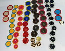 Lot of assorted colorful ETRO signed plastic buttons