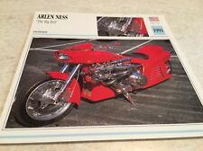 Carte moto ARLEN NESS the big red 1991 collection Atlas motorcycle USA