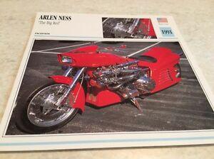 Porta Carte Motocicletta Arlen Ness The Big Red 1991 Collezione Atlas USA