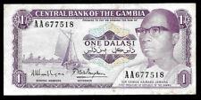 New listing World Paper Money - Gambia 1 Dalasi Nd 1971-87 Signature 9 @ Vf