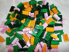 LEGO  180 Bausteine 3001 in grün, dunkelgrün, hellorange und hellrosa 2x4  NEU