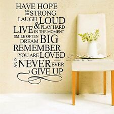 Fashion Wall Decals Have Hope Be Strong Quotes Letters Stickers Home Decor Mural