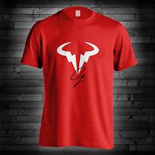 Rafael Nadal Logo T Shirt RN Rafa Tennis Player Red Blue Camiseta Tee New