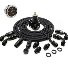 K swap fuel system lines kit  30-70 PSI  AN6 Fittings + gauge + regulator + hose