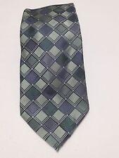 Calvin Klein Silk Turquoise Men's Neck Tie CK Blue Green Geometric Pattern Silk