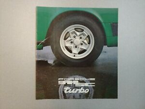 NICE ORIGINAL VINTAGE PORSCHE 911SC 930 GREEN COLOR SALES BROCHURE 1978