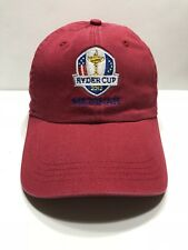 Ryder Cup 2012 Medina Cap Hat Adult Adjustable Ahead Classic Cut 100% Cotton Red