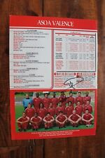 More details for asoa valence hand signed team a4 poster picture larrieu & friio plymouth argyle