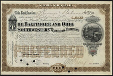 USA: BALTIMORE et Ohio Sud-Ouest Railway Co., $100 actions, 1894