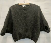 Tomorrowland Size S Soft Wool Gray Dolman Sleeve Cropped Sweater
