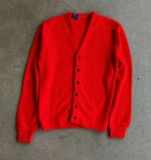 Vintage 1950s Sarby Red Acrylic Cardigan Sweater sz M