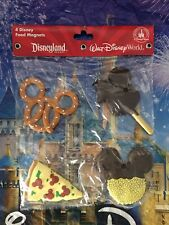 Disney Mickey Mouse Silicone Kitchen Magnet Set of 4 Mickey Icon Food Snacks New