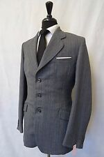 Men's sur mesure à Rayures Bleu Vintage Tweed Suit 36 L W32 L32 CC6244