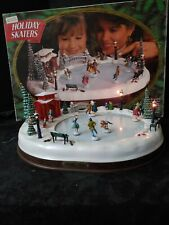 Mr Christmas Holiday Skaters Ice Skating Musical Scene 1995