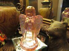 BEAUTIFUL PINK FENTON GLASS ANGEL