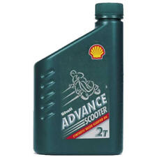 0.5L Liter Shell Advance 2T Two-Stroke Motorcycle, Scooter Engine Oil Synthetic
