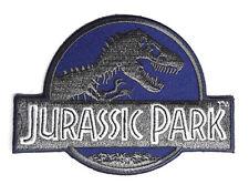 Jurassic Park - Film Logo dunkel blau - Uniform Patch Aufnäher - neu
