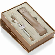 PARKER SONNET PEARL & GOLD BALLPOINT PEN  & POUCH NEW IN BOX 1935163