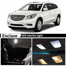 White Interior LED Lights Package Kit for 2008-2015 Buick Enclave