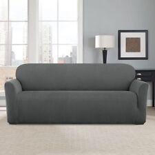 Sure Fit® Modern Chevron Sofa Slipcover Dark Gray