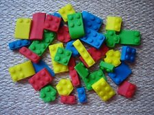 lego bricks x 44  edible bricks for cupcake / cake decorations