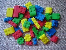 lego bricks x 36 edible bricks for cupcake / cake decorations