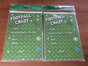 Marks And Spencer 2 X Party Invites With Envelopes Packs Football 40 Invites