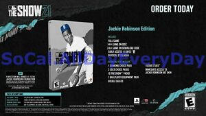 MLB The Show 21 Jackie Robinson SteelBook Edition! (Xbox 1 One, Series X) NEW!!!
