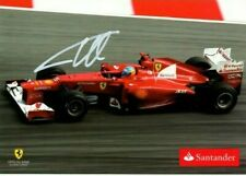 8e033777028 Fernando Alonso hand signed official postcard Santander! Ferrari 2012.
