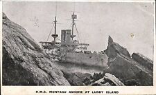Lundy. HMS Montague Ashore at Lundy Island.