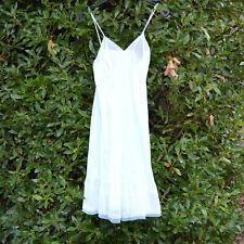 Fond de robe combinaison nuisette dentelle 38 vintage Nylon vert pale zaza2cats