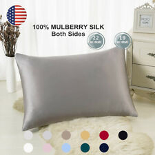100% Pure Mulberry Zipper Silk Pillowcase 19 and 22 Momme Standard Pillow Cover