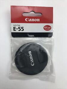 Canon E-55 55mm Snap-On Lens Cap #8266B001