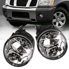 for 05-08 Nissan Armada/04-10 Titan Clear Front Bumper Fog Light Lamps+Bulbs L+R