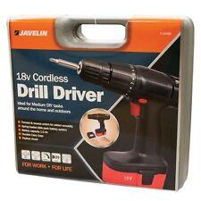 New 18V Cordless Drill Driver Include 6 Drill Bits & 8 Screwdriver Attachments