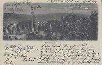 Postkarte - Gruss aus Stuttgart / Schloßplatz