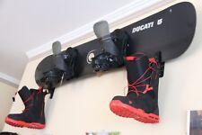 2X Longboard Display Storage Rack Wall Mount Snowboard Hanger Skateboard Holder