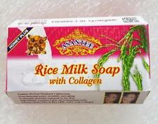 Asantee Thai Herbal Rice Milk Soap plus AHA with Collagen Lightening Skin 125g