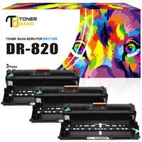 3 PK Drum Unit for Brother DR820 HL-L6200dw MFC-L5800dw MFC-L5900dw MFC-L5850dw