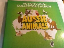 AUSSIE ANIMALS ACTIVITY AND COLLECTOR'S ALBUM + COMPLETE SET OF 108 CARDS