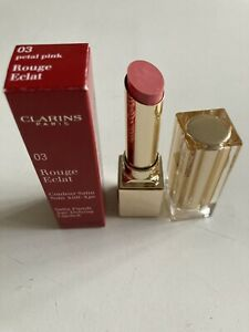 CLARINS ROUGE ECLAT SATIN FINISH AGE-DEFYING LIPSTICK  03 PETAL PINK NEW BOXED!