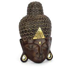 Buddha Kopf - Holz Maske - Handarbeit aus Bali - 48 cm - Wandbild Relief Asien