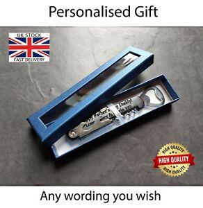 Personalised Wine Beer Bottle Opener Party Wedding Gift Idea Custom Engraving