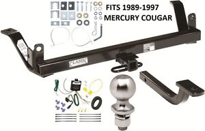 COMPLETE TRAILER HITCH PACKAGE W/ WIRING KIT FITS 1989-1997 MERCURY COUGAR NEW
