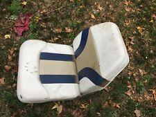 Low Back Boat Seat, Beige/Blue with swivel
