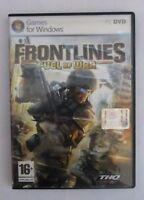 GAMES GIOCO PER WINDOWS PC DVD FRONTLINES FUEL OF WAR THQ USATO COME NUOVO 16+