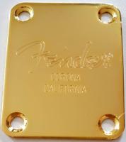 stock B - NECK PLATE logo Corona California - gold - pour guitare, basse.