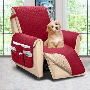 Recliner Chair Cover Reversible Sofa Slipcover For Dogs Protective Oversized New