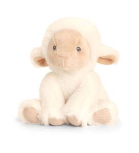 ECO FRIENDLY LAMB Teddy Soft Toy - New Born Christening Baby Shower Gift 14cm